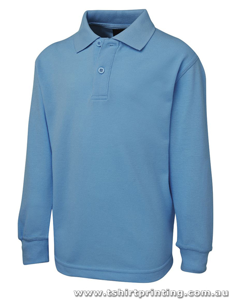 P62KL Kids Long Sleeve Signature Polo